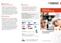 Infoflyer zum Beratungsangebot für Unternehmen
