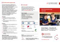 Flyer BOT Regionaler Wirtschaftskern Eisenhüttenstadt 2019/2020
